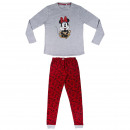 grossiste Pyjamas et Chemises de nuit: Minnie - pyjama long, gris