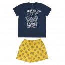 Großhandel Shirts & Tops: SPONGE BOB - kurze Pyjamas Single Jersey Marinebla