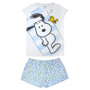 wholesale Sleepwear: SNOOPY - short pajamas single jersey, white