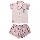 Großhandel Shirts & Tops: Princess - Kurzer Pyjama Single Jersey Mulan, rosa