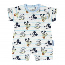 MICKEY - baby grow single jersey, white