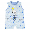 SNOOPY - baby grow single jersey, light blue