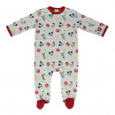 MICKEY - baby grow single jersey, grey