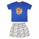 wholesale Sleepwear: SPIDERMAN - short pajamas single jersey, navy blue
