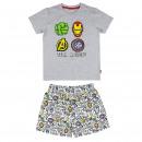 wholesale Sleepwear: AVENGERS - short pajamas single jersey, grey
