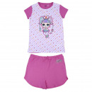 wholesale Sleepwear: LOL - short pajamas single jersey, pink