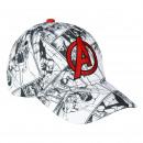 AVENGERS - cap premium, 53 cm, white