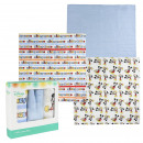 wholesale Towels: MICKEY - muslin cloths 3 pieces, 70x70 cm, blue
