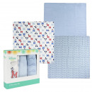 MICKEY - muslin cloths 3 pieces, 70x70 cm, blue