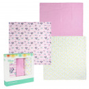 wholesale Towels: MINNIE - muslin cloths 3 pieces, 70x70 cm, pink