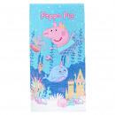 PEPPA PIG - towel cotton, 70 x 140 cm, blue
