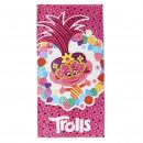 TROLLS - towel cotton, 70 x 140 cm, pink