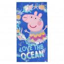 PEPPA PIG - towel polyester, 70 x 140 cm, navy blu