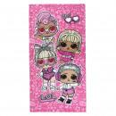 LOL - towel polyester, 70 x 140 cm, pink