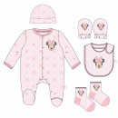 MINNIE - pack regalo single jersey, 1-3 meses, pin