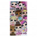 LOL - towel cotton, 70 x 140 cm, pink