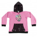 LOL - hoodie sequins cotton brushed, pink