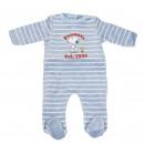 grossiste Vetement et accessoires: Snoopy - coton velours baby grow, bleu