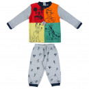 wholesale Sleepwear: MICKEY - long pajamas interlock, gray