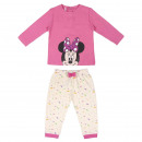 wholesale Sleepwear: MINNIE - long pajamas interlock, pink