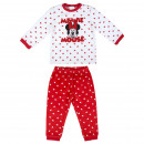wholesale Sleepwear: MINNIE - long pajamas velour cotton, red