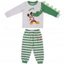 wholesale Licensed Products: LONG INTERLOCK PAJAMAS Mickey - 6 UNITS