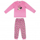 wholesale Sleepwear: MINNIE - long pajamas velour cotton, pink