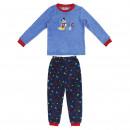 MICKEY - long pajamas coral fleece, blue