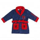 Großhandel Fashion & Accessoires: Spiderman - Bademantel Korallenvlies, blau