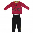 HARRY POTTER - lång pyjamas velour bomull, röd