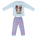 wholesale Sleepwear: LOL - long pajamas rib, blue