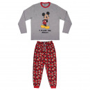 MICKEY - long pajamas single jersey, gray