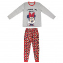 Mickey - lange Pyjamas Single Jersey grau