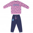 MINNIE - tracksuit 2 pieces cotton brushed, pink