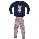 wholesale Sleepwear: MINNIE - long pajamas interlock, pink