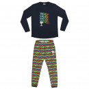 wholesale Sleepwear: SNOOPY - long pajamas single jersey, blue