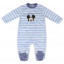 Mickey - algodón de terciopelo para bebé, azul