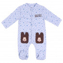 MICKEY - baby grow interlock, blue