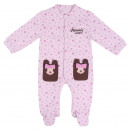MINNIE - baby grow interlock, pink