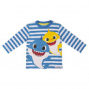 Großhandel Fashion & Accessoires: BABY SHARK - Langarmhemd Single Jersey , Blau
