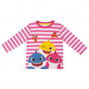 BABY SHARK - long sleeve shirt single jersey, pink