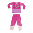 wholesale Sleepwear: LOL - long pajamas velour cotton, pink