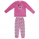 wholesale Sleepwear: MINNIE - long pajamas coral fleece, pink