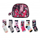 MINNIE - socks pack 6 pieces, pink