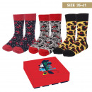 wholesale Socks and tights: MINNIE - socks pack 3 pieces, one size (35-41), mu