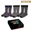 MICKEY - socks pack 3 pieces, one size (40-46), mu