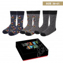 wholesale Socks and tights: MICKEY - socks pack 3 pieces, one size (35-41), mu