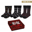 wholesale Stockings & Socks: ACDC - socks pack 3 pieces, one size (35-41), mult