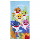 wholesale Other: BABY SHARK - towel polyester, 70 x 140 cm, blue