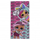 LOL - towel polyester, 70 x 140 cm, pink